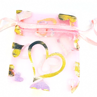 100 Pink Organza Bags 70mm Gift Bags